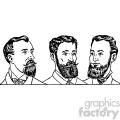 mens hair styles 1900 3 vintage 1900 vector art GF