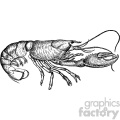 old vintage distressed lobster retro GF vector design vintage 1900 vector art GF