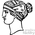 1900 Grecian hairdressing 8 vintage 1900 vector art GF