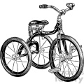 vintage tricycle vector vintage 1900 vector art GF