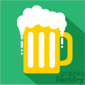 mug of beer for St Patricks Day flat vector design GF