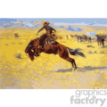 frederic remington vector art cowboy and bronze vector art GF