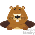 cute marmot cartoon character emerging from a hole vector flat design  gif, png, jpg, eps, svg, pdf