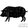 distressed pig vector art  gif, png, jpg, eps, svg, pdf