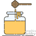 honey vector flat icon design  gif, png, jpg, eps, svg, pdf