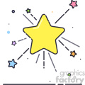 stars vector flat icon design  gif, png, jpg, eps, svg, pdf