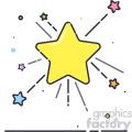 stars vector flat icon design
