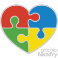 autism puzzle symbol svg cut file