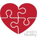 autism puzzle heart svg cut file