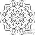 mandala geometric vector design 016