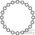 circle chain vector