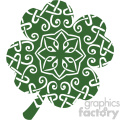 clover St Patricks Day flat vector design GF