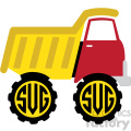 dump truck monogram svg cut file