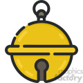 christmas gold bell vector icon