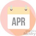 april calendar vector icon