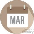 march calendar vector icon