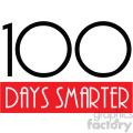 100 days smarter vector