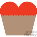 heart cupcake valentines vector icon