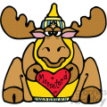 cartoon clipart moose 014 c