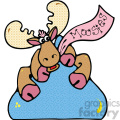 cartoon clipart moose 015 c