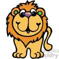 cartoon clipart Noahs animals lion 005 c