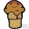 chocolate ice cream cone clipart vector clip art image