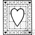 black white heart design