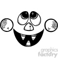 black and white scary cartoon face
