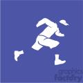 gangster running vector icon