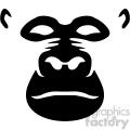 black gorilla vector icon