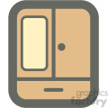 cabinet dresser furniture icon