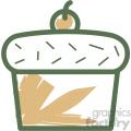 cupcake food vector flat icon design