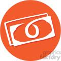money circle background vector flat icon