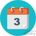 calendar circle background vector flat icon