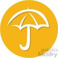 umbrella weather circle background vector flat icon