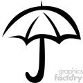 umbrella weather vector flat icon