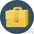 briefcase circle background vector flat icon