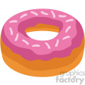 donut vector flat icon clipart with no background