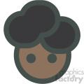 black girl with blue hair avatar vector icons