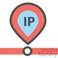 ip address web hosting vector icons