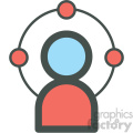 website sys admin web hosting vector icons
