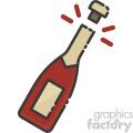 champagne bottle cork popped