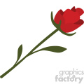 single red rose vector icon no background