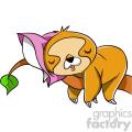 tired sloth cartoon character