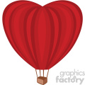 heart shaped hot air balloon no background
