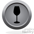 wine glass vector button icon