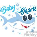 baby shark typography design