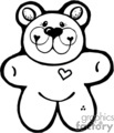 black and white cute teddy bear gif, eps