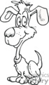black and white cartoon dog