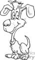 black and white cartoon dog